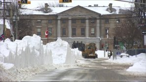 City crews work to remove snow