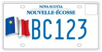 Acadian flag licence plate