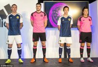 The new home kit take traditional tartan inspiration while the pink shirts will be hard to miss on away days