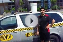 ALS Ice bucket Challenge. Yellow Cab Halifax, Nova Scotia