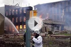 Fire in Halifax UK 19/06/2010 (Pellon) VID1
