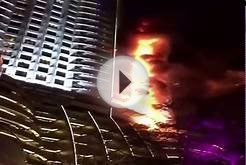 New Year 2016 : Fire Breaks Out At The Address Hotel, Dubai