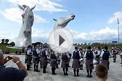 New York Metro Pipe Band perform Scotland the Brave at The