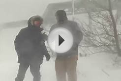 "Storm Hunter ""flying"" fail in Nova Scotia blizzard conditions"